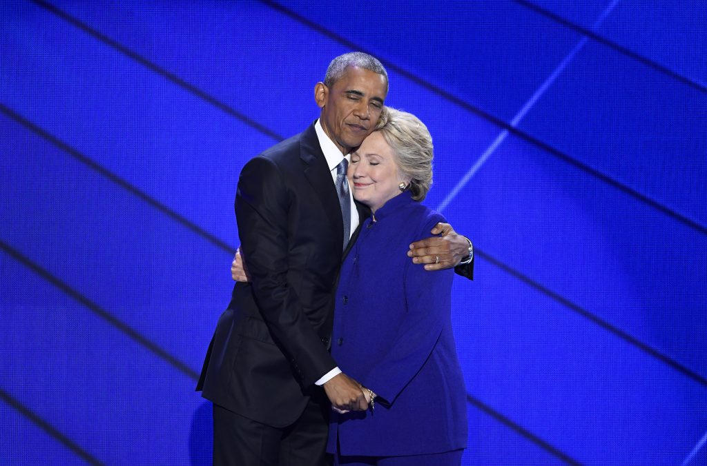 obama hillary clinton hug